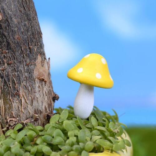 10x Miniature Dollhouse Bonsai Craft Garden Resin Landscape Big Mushroom