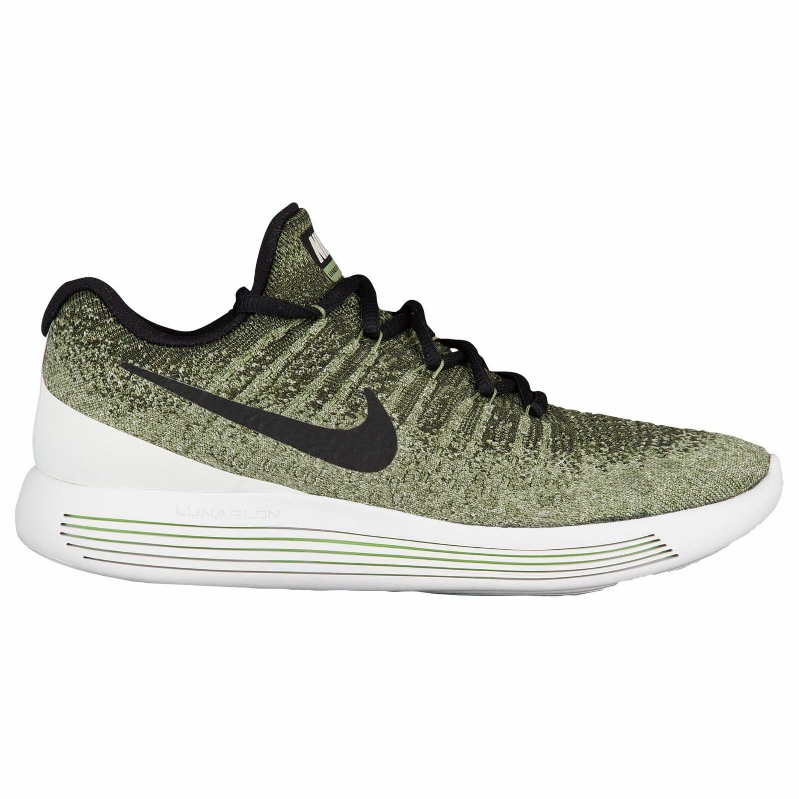 Nike Lunarepic Low Flyknit 2 Mens 863779-300 Rough Green Running Shoes Size 8.5