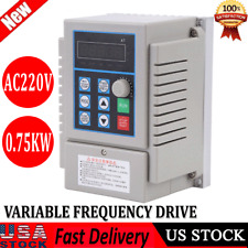 075kw 1hp Vfd 5a Ac220v Single Phase Speed Variable Frequency Drive Inverter