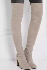 ae4381a7554  790 Stuart Weitzman Hiline Over the Knee Boot Suede Boots Thigh ...