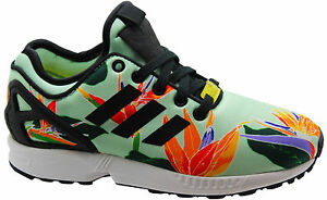 Adidas Originals ZX Flux NPS Mens Trainers Running Shoes Lace Green B34468 D33