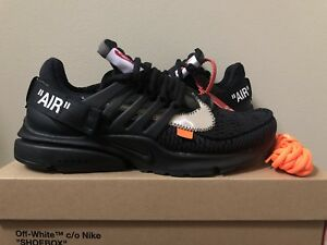 sale retailer 94534 48100 Image is loading Nike-Air-Presto-x-OFF-WHITE-Black-AA3830-