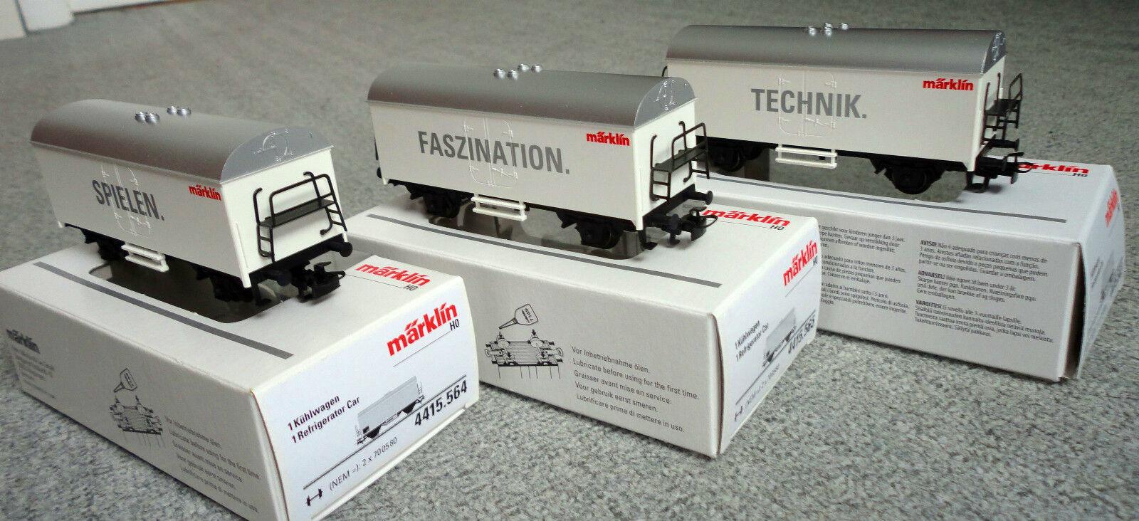 Conjunto de piezas de Märklin HO tres nuevos vagones de caja original