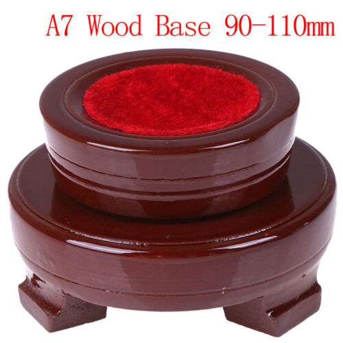 Crystal Wood Display Stand Base Holder For Crystal Ball Sphere Stone De ftW FL