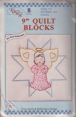 """1 pack Jack Dempsey /""""Under the Sea/"""" Stamped Embroidery  Quilt Blocks"""