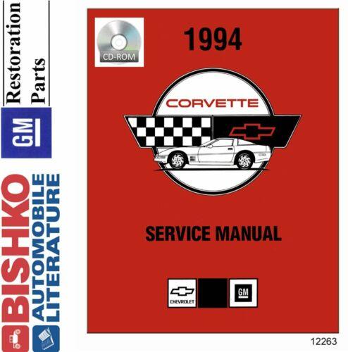 Bishko OEM Digital Repair Maintenance Shop Manual CD for Chevrolet Corvette 1994