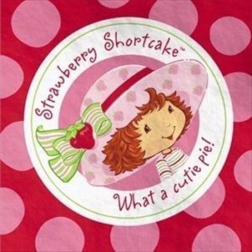 STRAWBERRY SHORTCAKE SMALL NAPKINS 16 ~ Birthday Party Supplies Cake Beverage