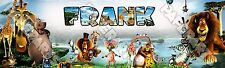 """Personalized Madagascar Movie Poster Name Banner 8.5""""x30"""" Glossy Photo Paper"""