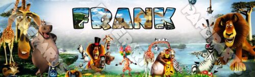 "Personalized Madagascar Movie Poster Name Banner 8.5/""x30/"" Glossy Photo Paper"