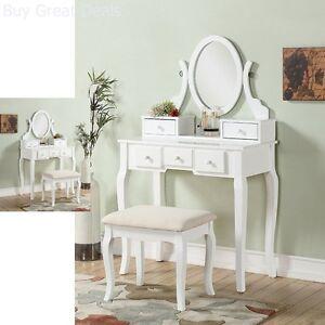 Image Is Loading Ashley Wood Make Up Vanity Table Stool W