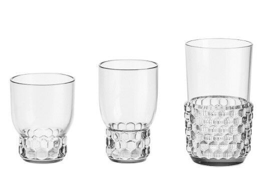 Kartell SET OF 4 Glasses jellies Family Design by Patricia Urquiola PMMA