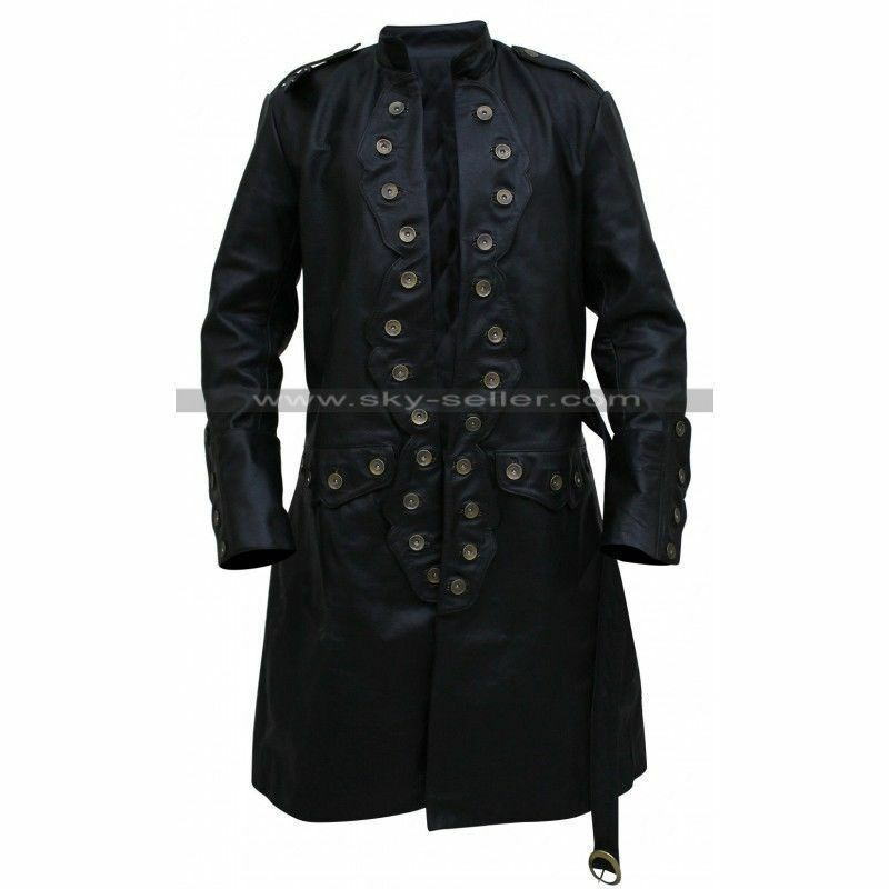 DEAD MEN TELL NO TALES ORLANDO BLOOM TRENCH COAT Pirates of the Caribbean 5