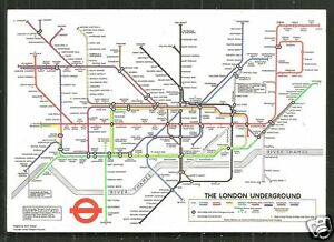 image is loading underground map postcard metro london england stamp 1978