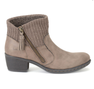 NEW BORN B.O.C BENDELL TAUPE ANKLE BOOTS WOMENS 11 Z26717 ZIP SIDE BOOTIES