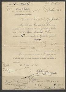 Q44-DOCUMENTO-BANCO-ESPANA-1904-EN-MURCIA-FEDERICO-DELGADO-MORALES-CEHEGIN