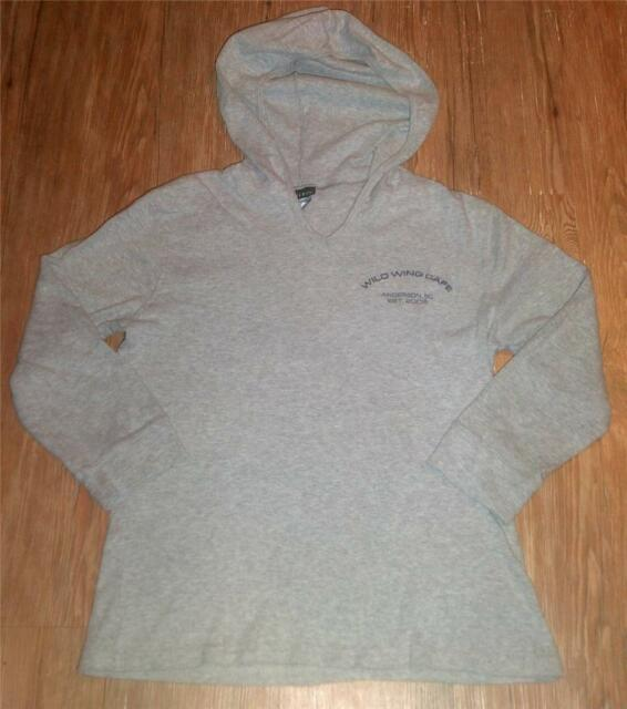 GIRLS HANES SILVER WILD WING THIN HOODIE PULL OVER SWEATSHIRT TOP~GRAY~SZ LG cd050492c4