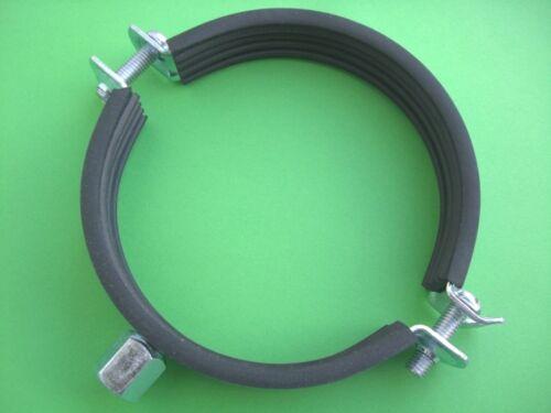 20 Schraub Rohrschellen mit Gummi 85-90 mm für 90 HT Rohr Sanitär Heizung NEU