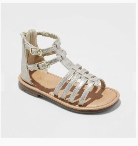 50 Pairs Cat and Jack Toddler Girls Taylor Classic Gladiator Sandals Gold Size 9