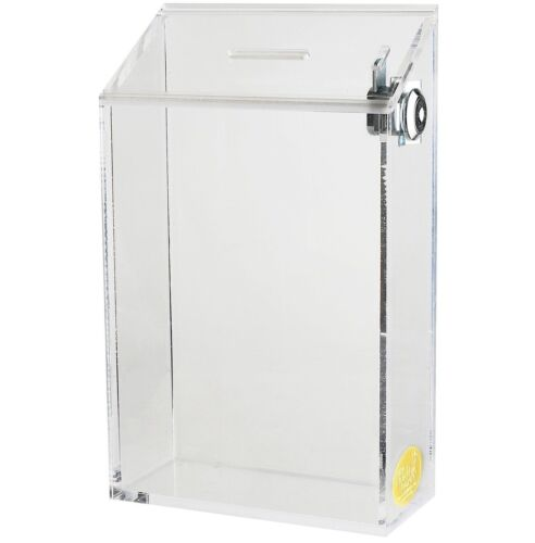 LARGE CLASSIC ACRYLIC CHARITY DONATION AND SUGGESTION BOX AC-35