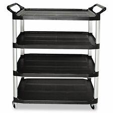 Rubbermaid Commercial Open Sided Utility Cart Four Shelf 40 58w X 20d X 51h