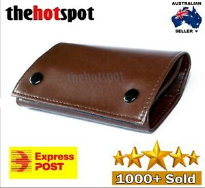 Brown Faux Leather Cigarette Tobacco Pouch Bag Case Paper Christmas Gift 7041608165459