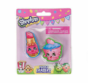 Image Is Loading Shopkins Lippy Lips Amp Cupcake Chic Puzzle Erasers