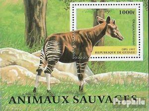 Aggressive Guinea Block508 Unmounted Mint Topical Stamps Guinea Never Hinged 1997 Locals Animals Sophisticated Technologies