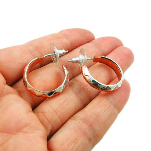 Copper and 925 Silver Hoops Circle Drop Hoop Earrings
