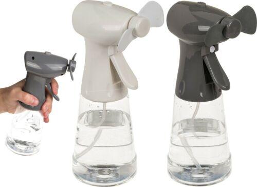 Hand Ventilator mit Sprühflasche Sprühventilator Wasserzerstäuber Frische 22cm