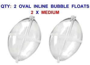 2-OVAL-IN-LINE-BUBBLE-FLOATS-MEDIUM-CLEAR-GAME-COARSE-MATCH-FLOAT-ROD-FISHING