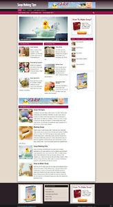 SOAP MAKERS WEBSITE UK AFFILIATES + FREE DOMAIN + HOSTING + FREE SSL CERTIFICATE