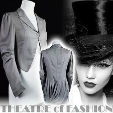 VINTAGE TUTTI I SANTI SILK JACKET 8 6 FRAC Equitazione Cappotto Stile Vittoriano mistress VAMP