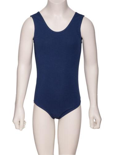 Boys Black,White,Navy,Blue Cotton Sleeveless Ballet Dance Leotard KDC036 Katz