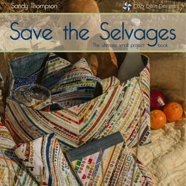 * SAVE THE SELVAGES The Ultimate Small Project Book NEW Tote Pouch Purse Cover