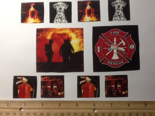Fire trucks  Fabric Iron On Applique patches!!!!!