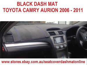 dash mat black dashmat dashboard cover fit toyota camry aurion 2007 2009 black ebay. Black Bedroom Furniture Sets. Home Design Ideas