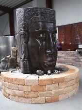 Khmer-Kopf 64 cm als Wasserspiel Steinguss Skulptur Brunnen Wasserfall Buddha