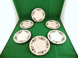 Enoch-Wedgwood-Tunstall-Floral-Side-Plates-x-6
