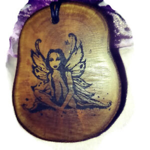 Fairy-Mythical-Being-Wooden-Necklace-Charm-Eco-Friendly-Myth-Fantasy-pendant