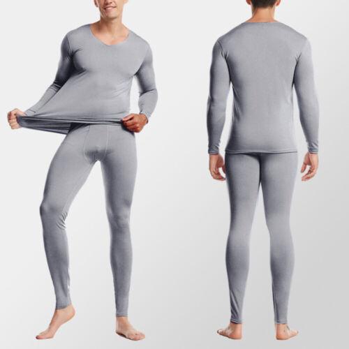 Herren Winter Thermo Lange Unterhose Top T Shirt Hosen Unterwäsche Set