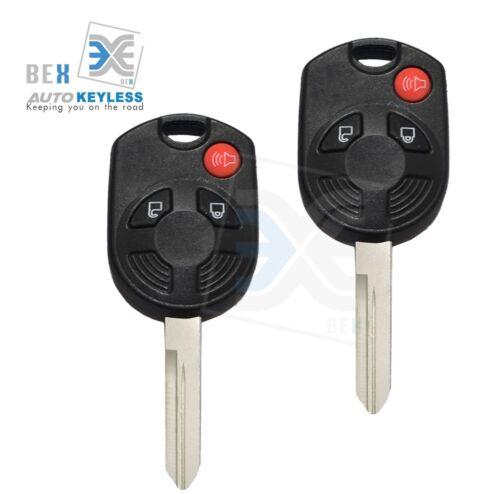 2 Remote Key 3 Button 80 Bit Head Keyless Entry Transmitter Ford 2009-2015 Flex