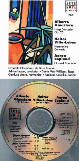 """Adrian Leaper: """"Harfen & Klarinettenkonzerte"""", Top CD"""