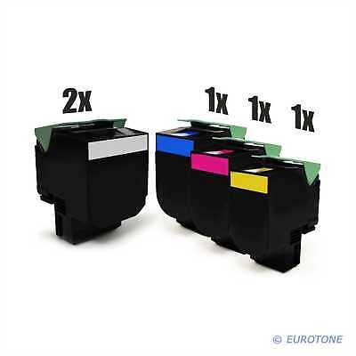 Gehorsam 5x Eco Patrone Für Lexmark Cx-317-dn Cs-417-dn Cx-517-de Multipack GüNstige VerkäUfe