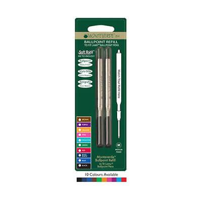 4 x Monteverde D1 Mini Ballpoint Pen Refills 10 COLOURS