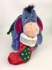 "2001 Disney Store Exclusive Eeyore Christmas Stocking 12"" Plush Stuffed Animal"