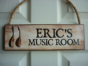 PERSONALISED-MUSIC-ROOM-SIGN-MANDOLIN-HAND-MADE-MUSICIANS-GIFT-STRING-INSTRUMENT
