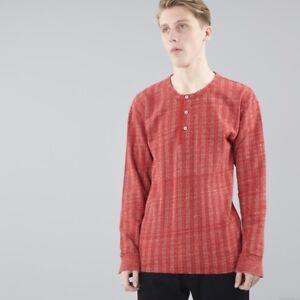 Levis-Vintage-Clothing-LVC-1920s-rot-Umber-Stripe-Henley-Tshirt-179-NEU-USA-XS