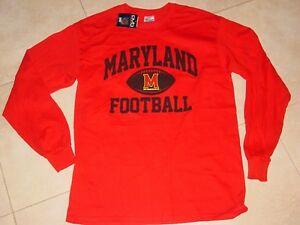 best loved d1f8e a88d4 Details about UMD MARYLAND TERRAPINS TERPS FOOTBALL long sleeve T-Shirt NEW  sz..... LARGE