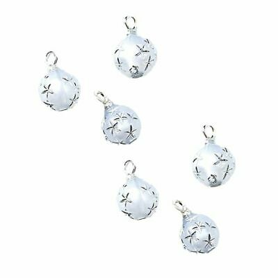 Dollhouse Christmas White Silver Star Ball Ornaments 1:12 Doll House Miniature