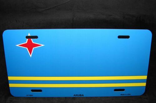 ARUBA FLAG METAL NOVELTY LICENSE PLATE TAG FOR CARS
